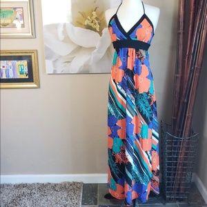 Romeo & Juliet Couture ~ Bright Graphic Maxi Dress